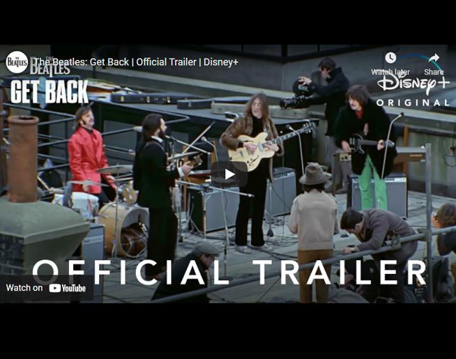 BEATLES: Official Get Back Trailer