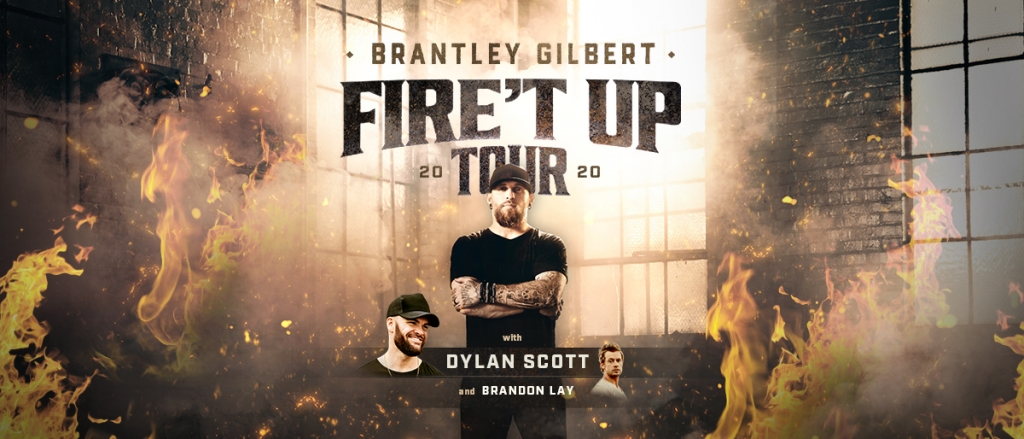 Brantley Gilbert Tour 2020.Brantley Gilbert Fire T Up Tour 2020 Cat Country 94 1