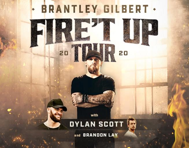 "Brantley Gilbert ""Fire't Up"" Tour 2020"