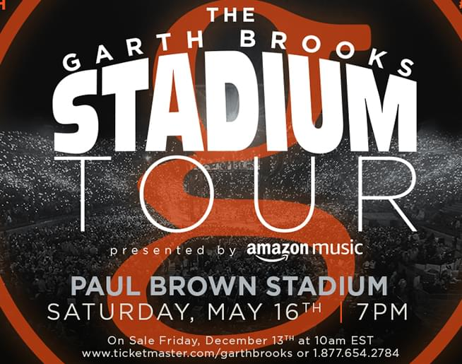 Cat Country 94.1 Welcomes Garth Brooks to Paul Brown Stadium