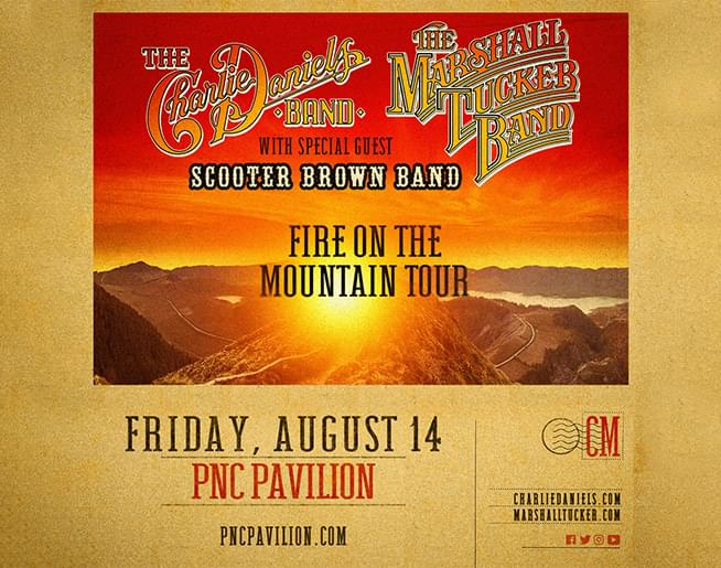 The Charlie Daniels Band and The Marshall Tucker Band: PNC Pavilion August 14