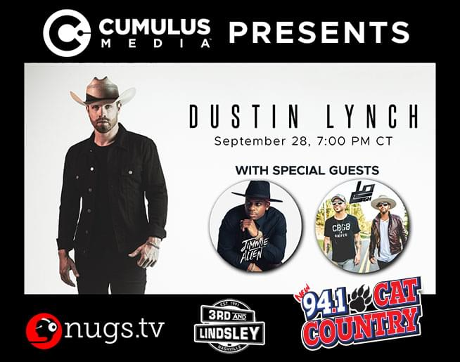 Dustin Lynch with Jimmie Allen and LoCash!