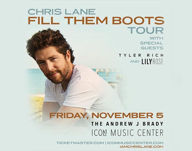 Chris Lane Fill Them Boots Tour