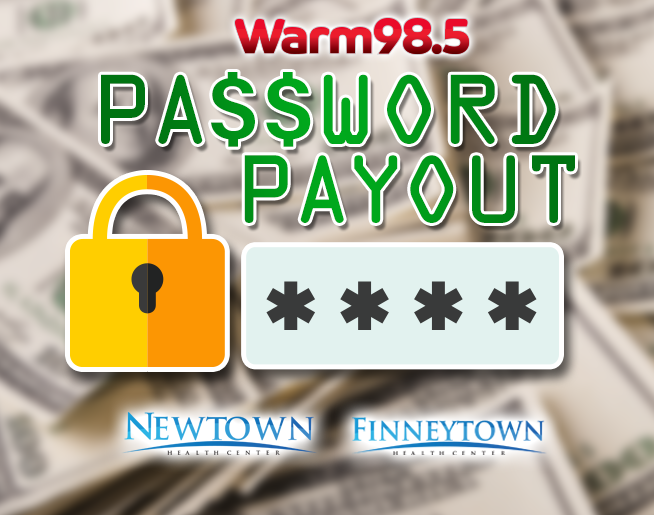 The Warm 98.5 Password Payout