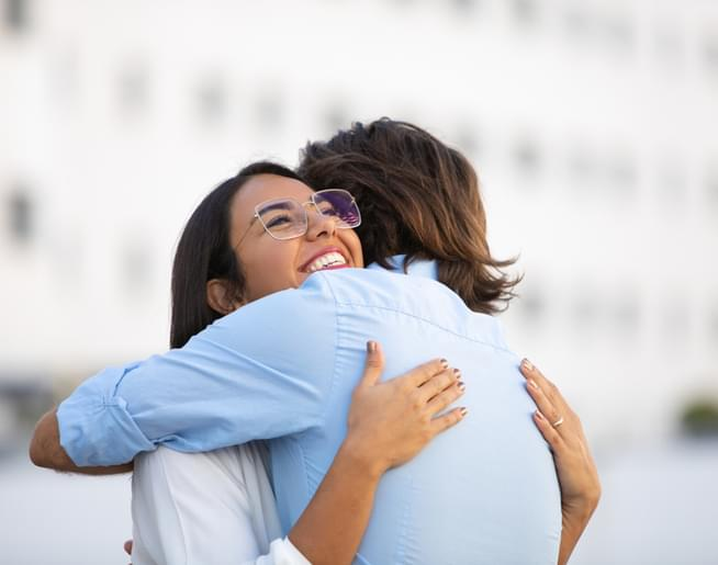 Jim and Amanda Celebrate National Hug Day