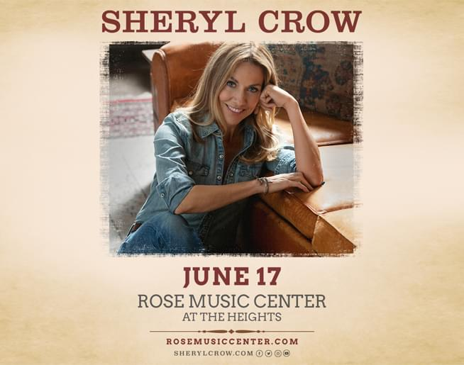 Text-in-to-Win Weekend: Sheryl Crow!