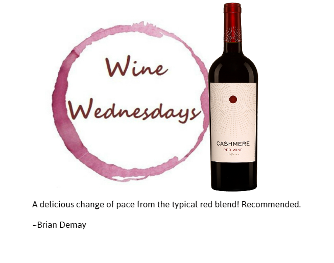 Brian Demay's Wine Wednesday: Cashmere Red Blend