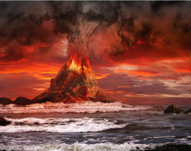 He Blows Up Volcanoes