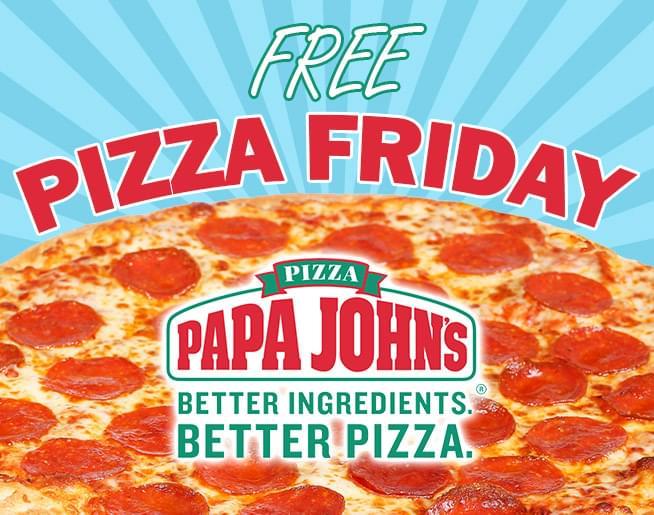Free Pizza Friday!