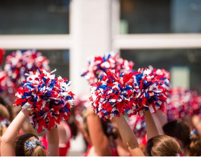 Lebanon Cheerleaders with a $1,000 Cheer