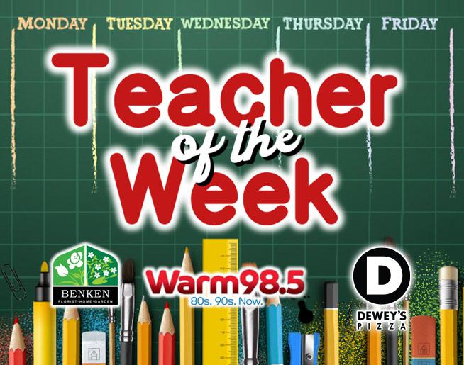 Jim and Amanda's Teacher of the Week