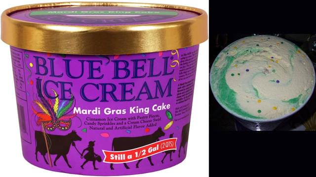 King Cake Ice Cream Is Back!!