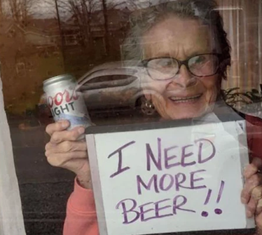 93-year old woman's plea for beer wins hearts across the internet
