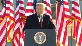 WATCH: The Trumps Farewell Speech
