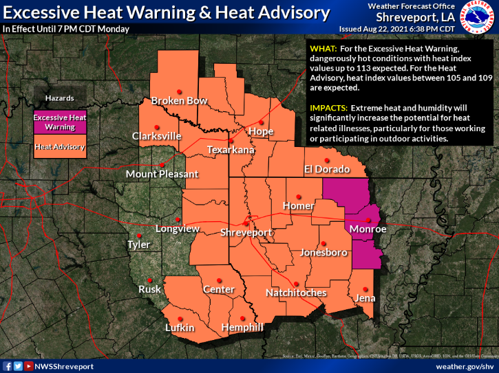 Heat Indexes Could Reach Almost 110 Today!