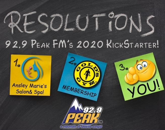 PEAK FM's 2020 KICKSTARTER!