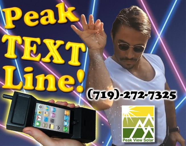 Peak Text Line Sponsored By Peak View Solar!