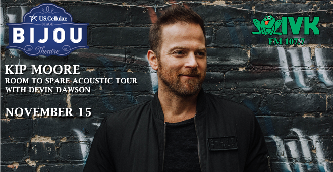 November 15 – Kip Moore: Room to Spare Acoustic Tour at Bijou Theatre