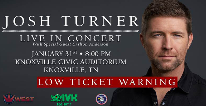 January 31 – Josh Turner at Knoxville Civic Auditorium