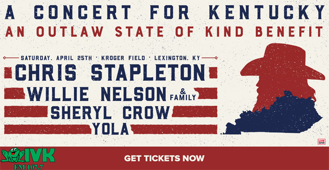 April 25 – Chris Stapleton: A Concert for Kentucky at Kroger Field