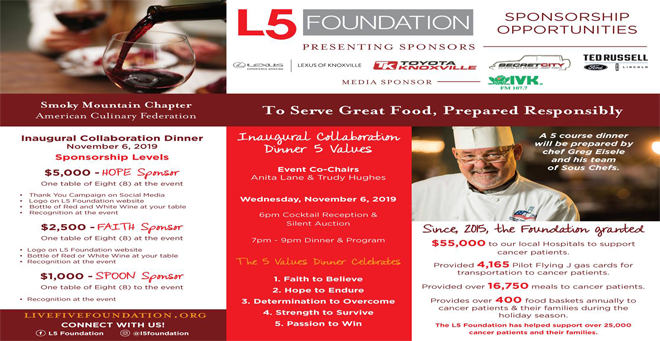 L5 Foundation Inaugural Collaboration Dinner