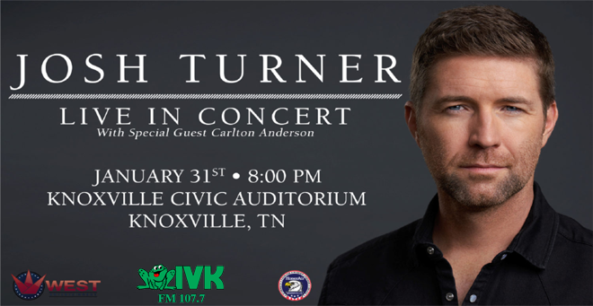 January 31 – Josh Turner at Knoxville Civic Auditorium