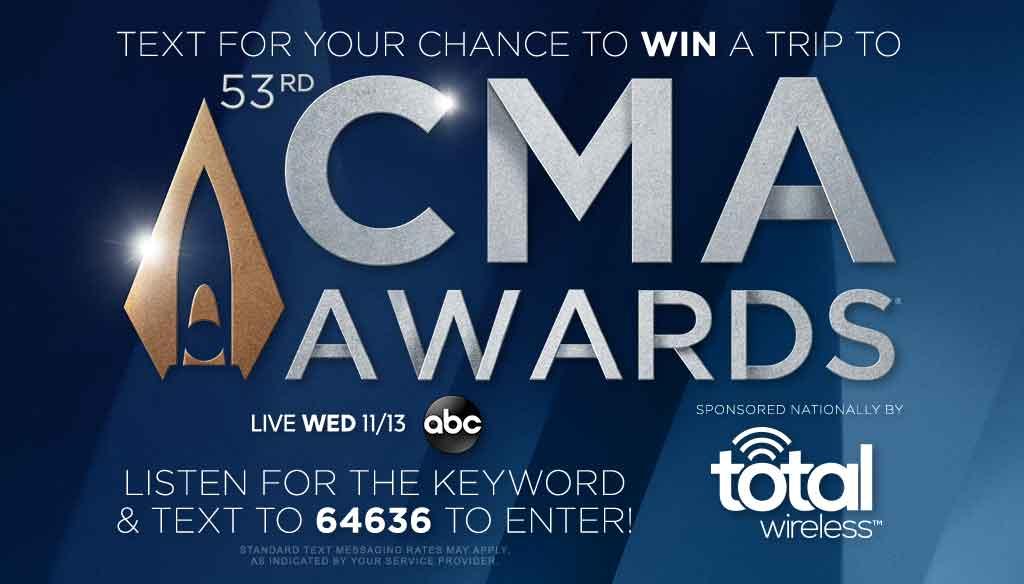 CMA Awards 2019 Text to Win