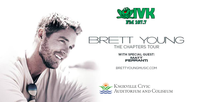 January 30 – Brett Young at Knoxville Civic Auditorium