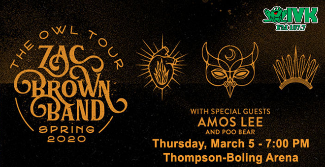 March 5 – Zac Brown Band at Thompson-Boling Arena