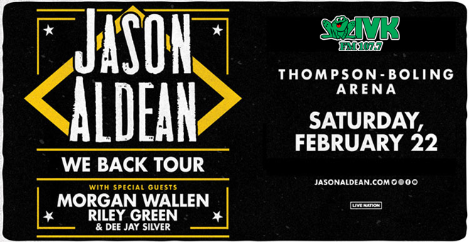 February 22 – Jason Aldean at Thompson-Boling Arena