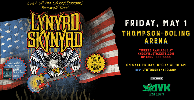 May 1 – Lynyrd Skynyrd at Thompson-Boling Arena