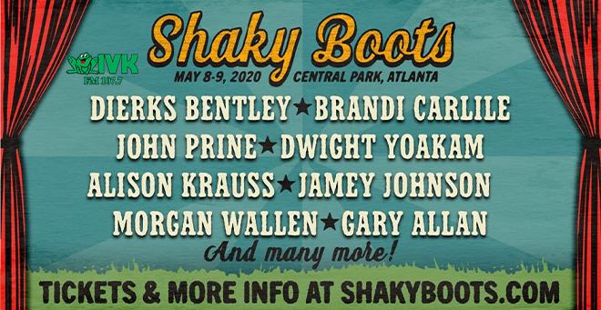 May 8 & 9 – Shaky Boots at Central Park, Atlanta