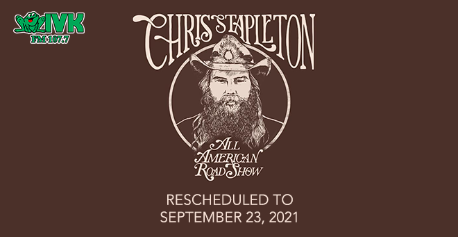 September 23 – Chris Stapleton at Thompson-Boling Arena
