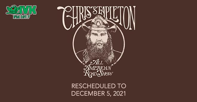 December 5 – Chris Stapleton at Thompson-Boling Arena