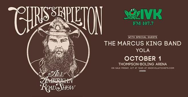 October 1 – Chris Stapleton at Thompson-Boling Arena