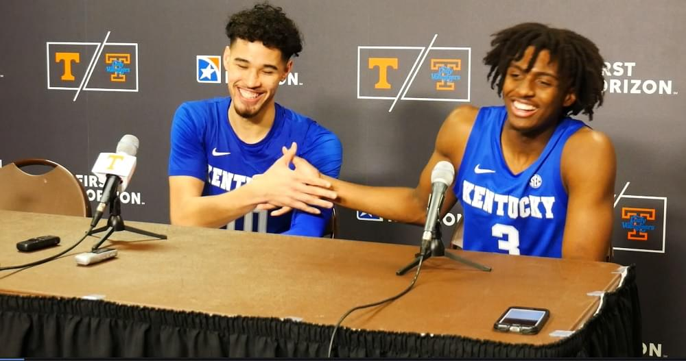 """Video: Maxey and Juzang – UK """"Tennessee has a really good crowd though. They were loud. They were rowdy."""""""
