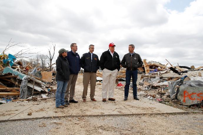 President Trump Tours TN Tornado Damage