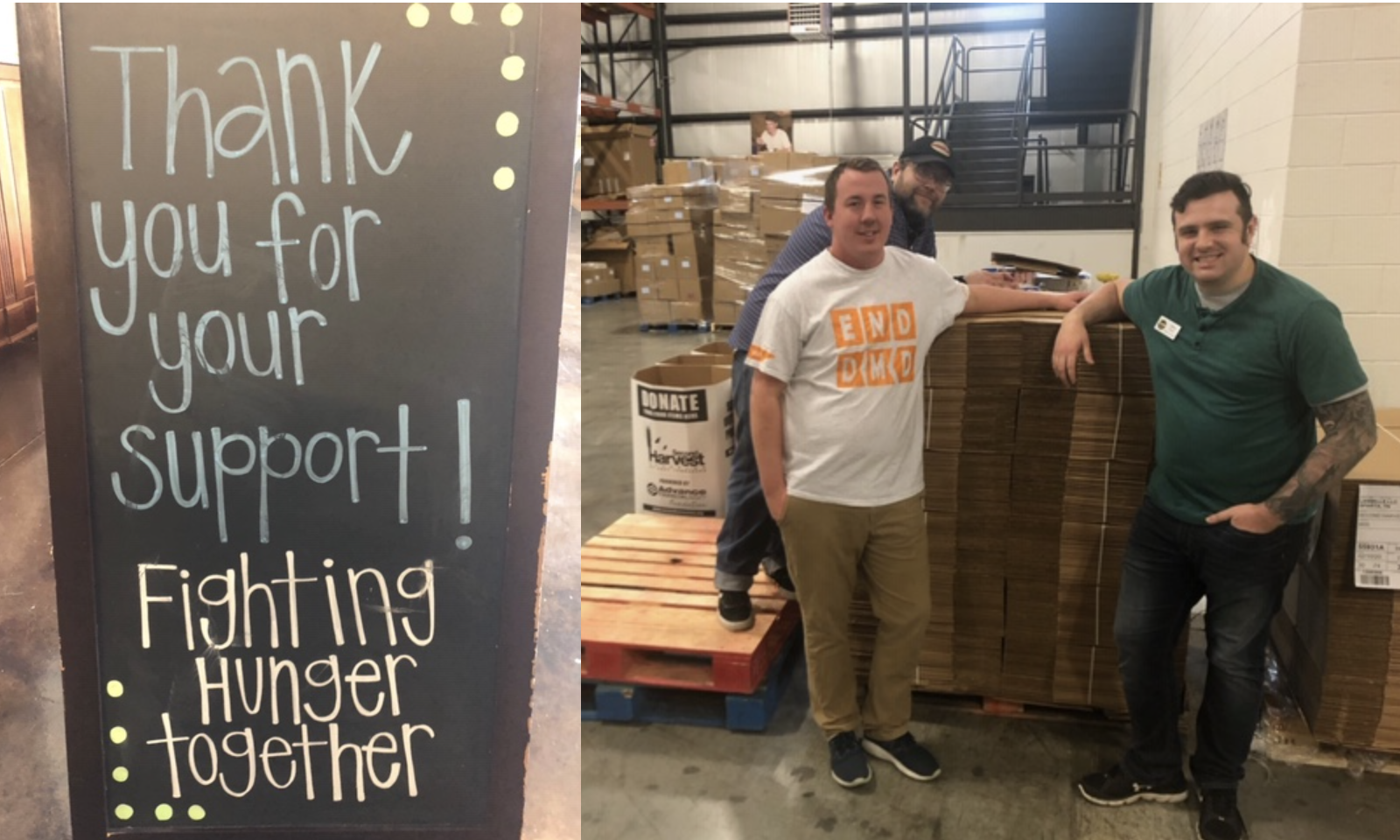 Gunner stopped by Second Harvest to lend a helping hand (3.20.20)