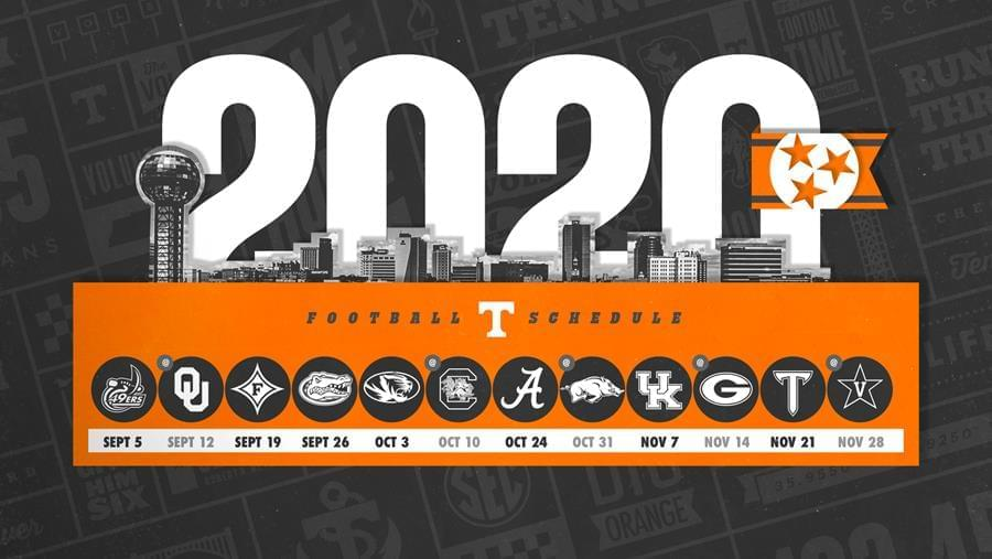 Tennessee Football Announces 2020 Schedule