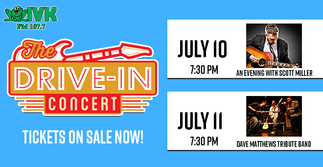 July 10 – 11: The Drive-In Concert Series at Smokies Stadium
