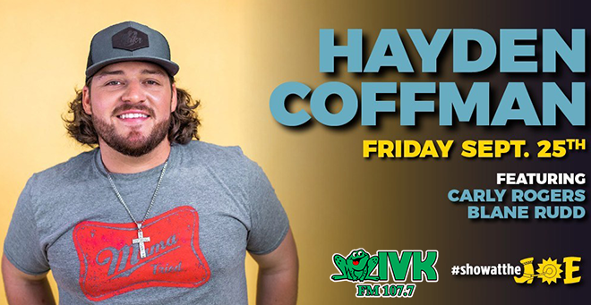 September 25 – Hayden Coffman at Cotton Eyed Joe