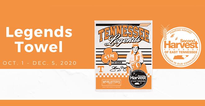 Legend Towels Fundraiser for Second Harvest