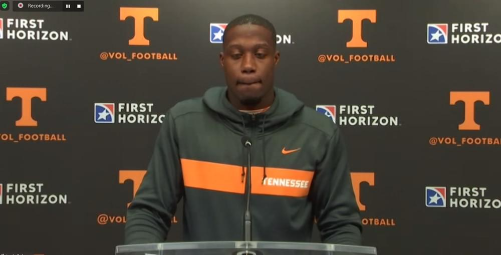 WATCH:  Josh Palmer postgame after loss to Alabama