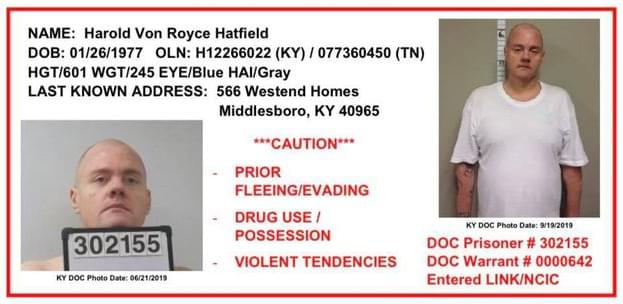 Escaped KY Inmate Spotted in Claiborne County