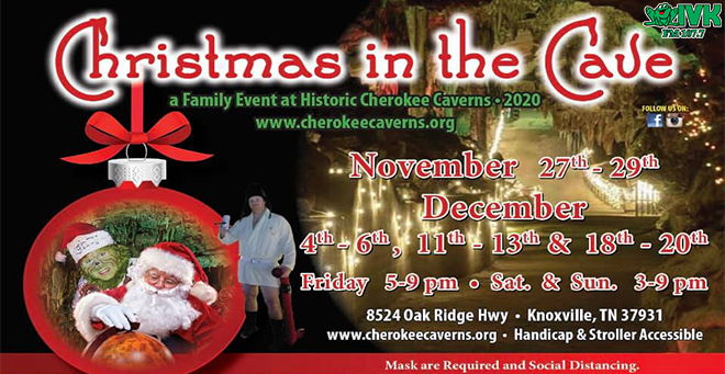 Christmas in the Cave at Cherokee Caverns