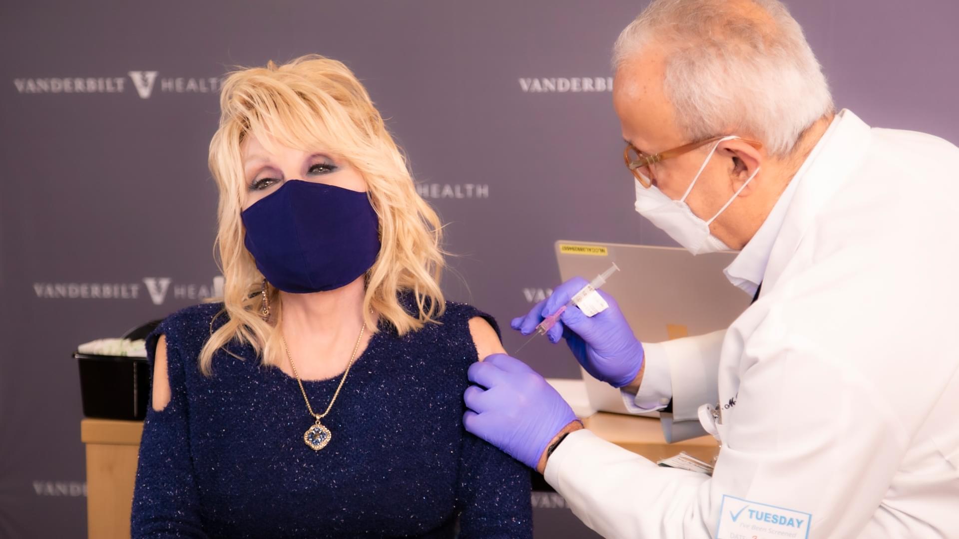 Dolly Parton Receives COVID-19 Vaccination