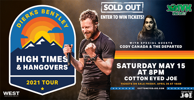 Enter to Win Tickets to Dierks Bentley at Cotton Eyed Joe