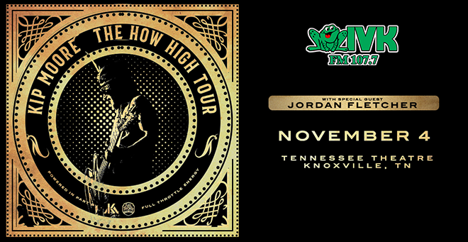 November 4 – Kip Moore at Tennessee Theatre