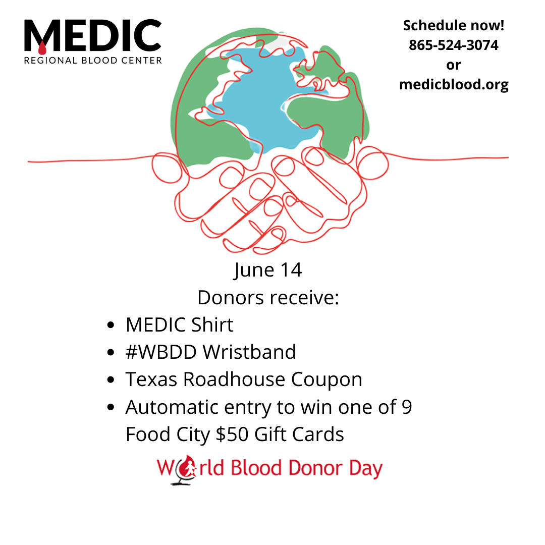 Medic Regional Blood Center Joining World Blood Donor Day