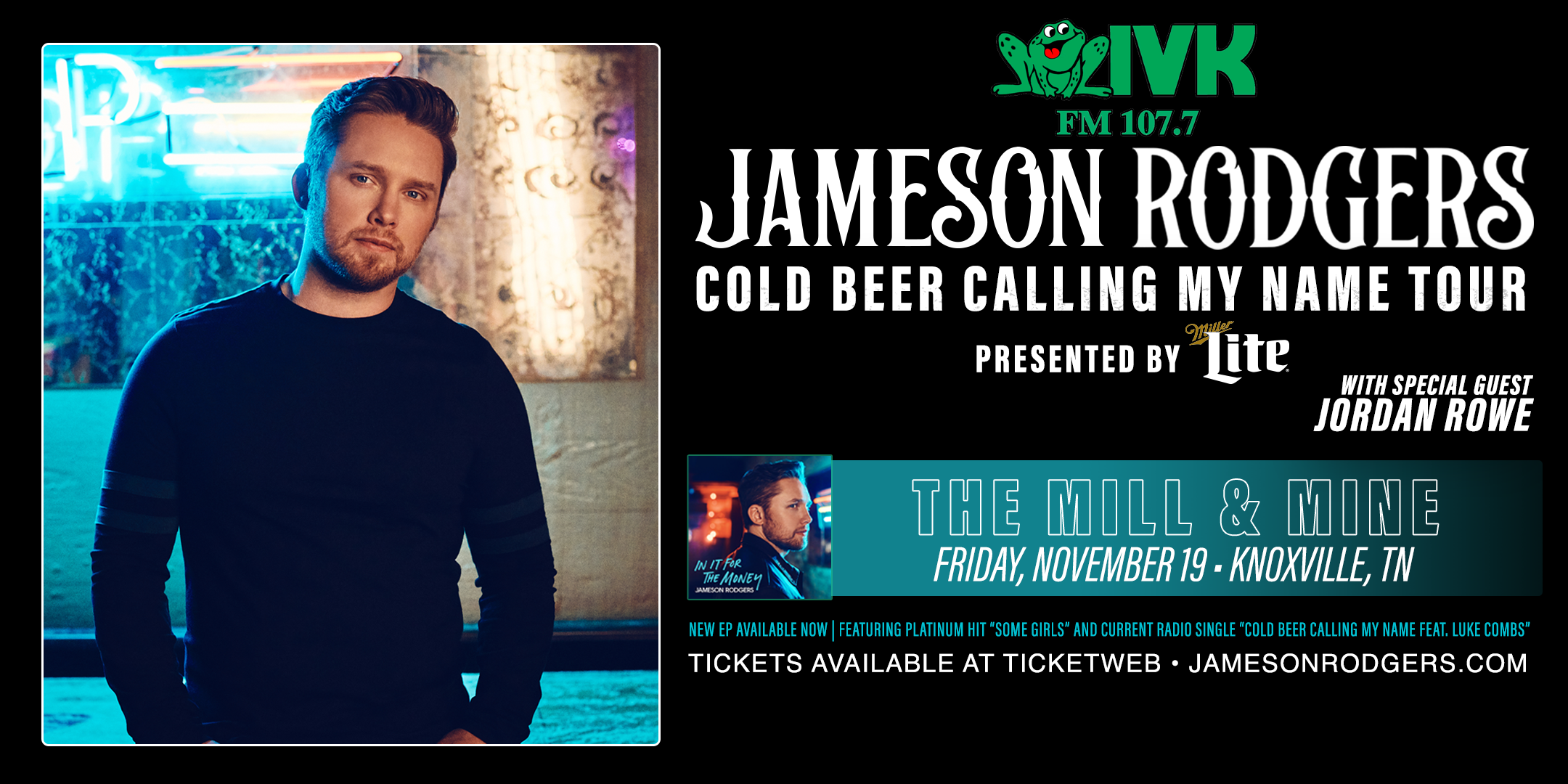 Jameson Rodgers at The Mill & Mine!